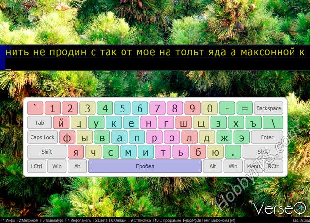 VerseQ - программа для обучения слепому набору на клавиатуре