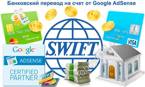 Как вывести деньги Google AdSense - банковский перевод на счет