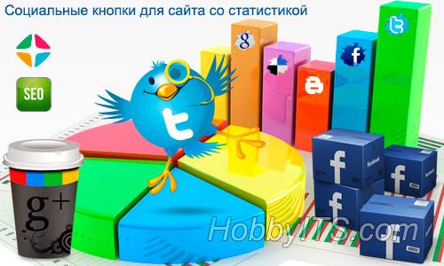 UpToLike - социальные кнопки WordPress со статистикой
