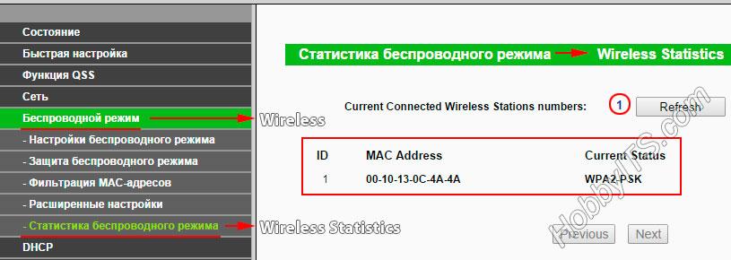 Смотрим какие устройства подключены по Wi-Fi к роутеру