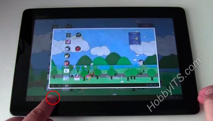 Создание скриншота на планшете с ОС Android 3.2