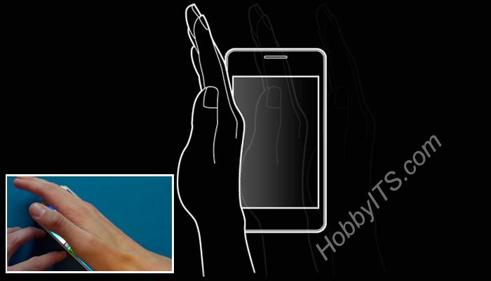 Скриншот на Samsung с интерфейсом TouchWiz ребром ладони