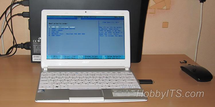 Как установить на нетбук Windows 7 с USB-флешки