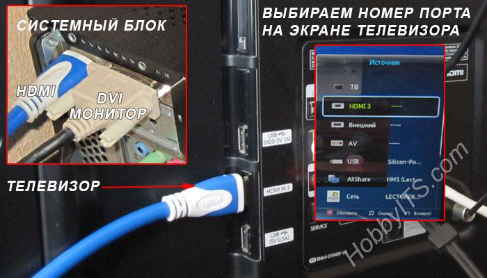 Подключаем телевизор к компьютеру по HDMI