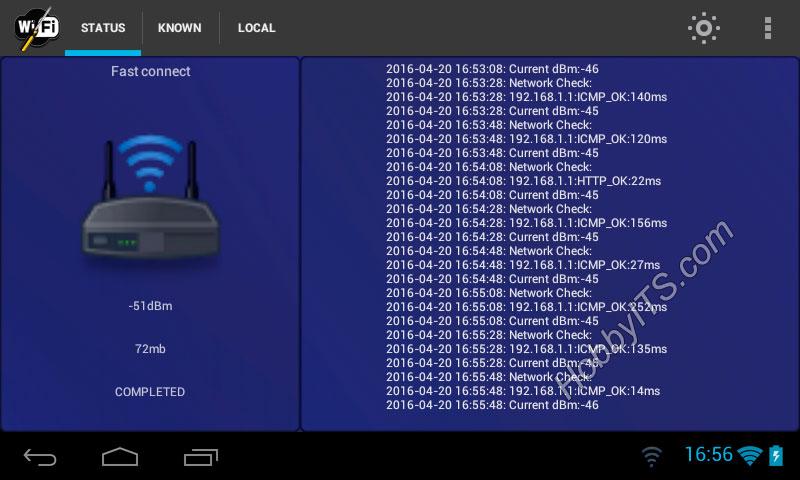 Wifi Fixer - статус подключения в реальном времени