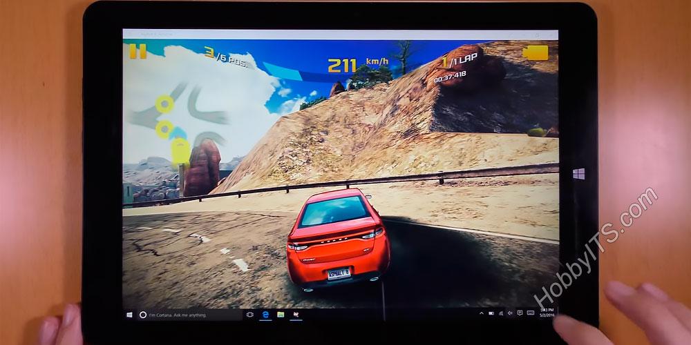 Тест гоночной игры в планшете Chuwi Hi12