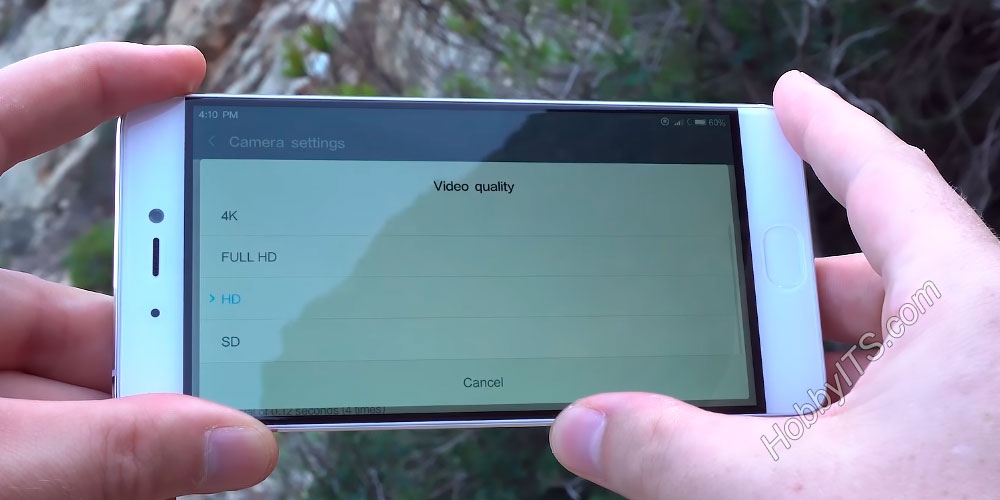 Выбор качества видеосъемки на смартфоне Xiaomi Mi5s