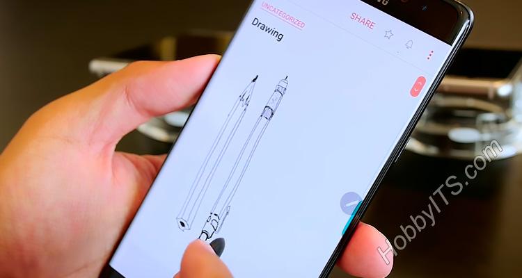 Наброски предметов с помощью S Pen в Samsung Note