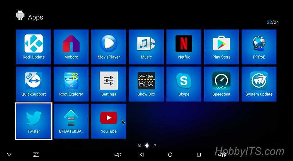 Приложения YouTube, Play Маркет, обновление Kodi, Skype и другие