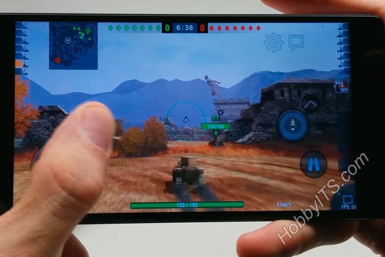 Демонстрация игры танки на высоких (FPS на уровне 50). Vernee Apollo Lite