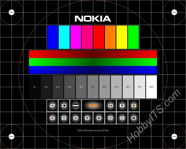 Тест монитора программой Nokia Monitor Test