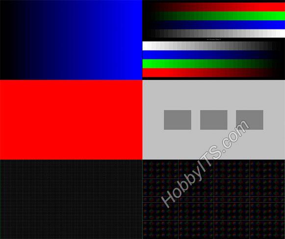 Набор картинок с цветными заливками и градиентами для проверки телевизора на битые пикселы