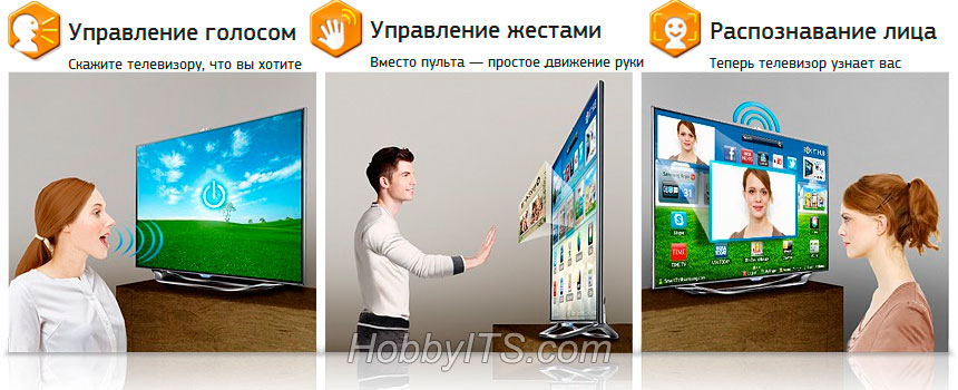 Управление жестами, голосом, распознавание лица в Samsung Smart TV