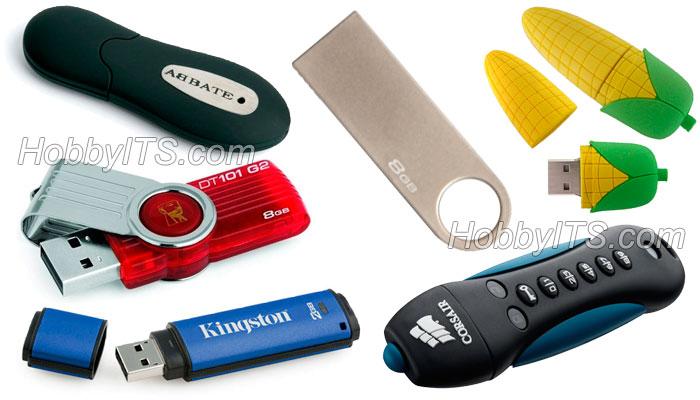 Несколько типов корпусов USB-флеш-накопителя