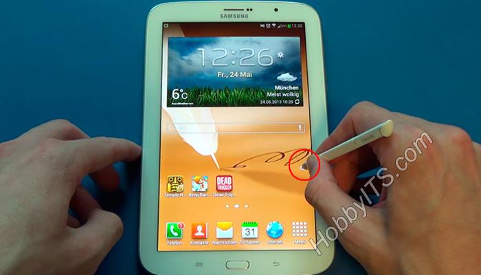 Скриншот на Samsung Galaxy Note при помощи стилуса S-Pen
