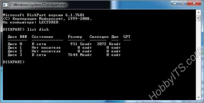 Вызов командной строки в Windows