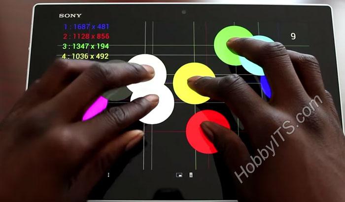 Сенсорный (емкостной) экран планшета