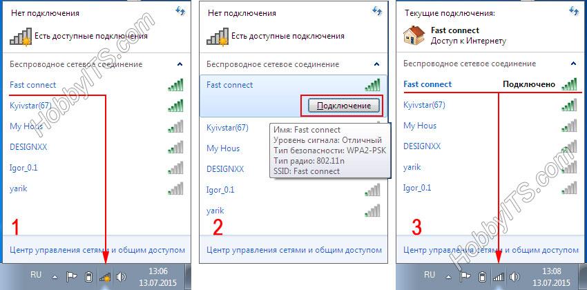 Принцип беспроводного Wi-Fi соединения ноубука