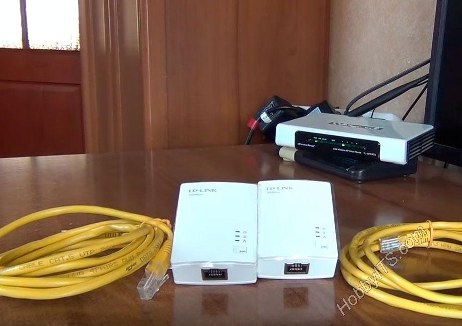 Комплект поставки Powerline-адаптеров