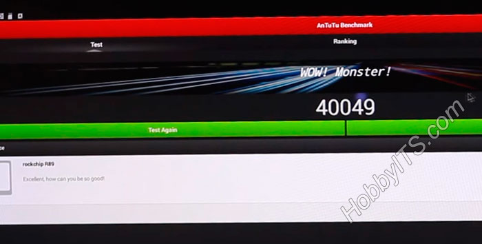Результаты AnTuTu Benchmark для TV приставки Beelink R89