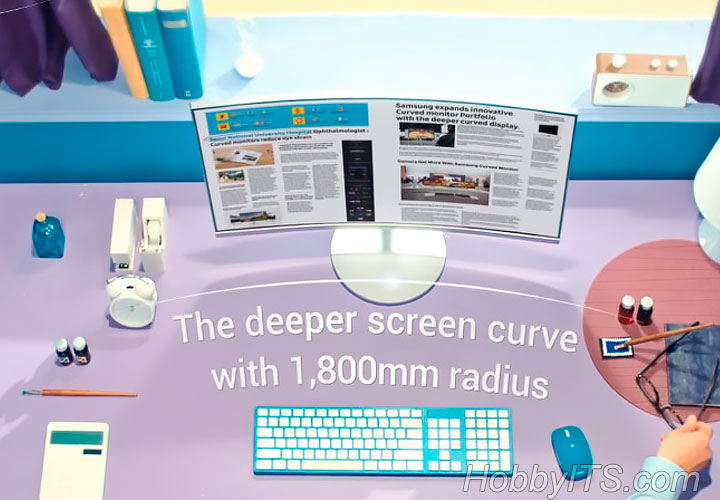 Мониторы с кривизной экрана 1800 миллиметров