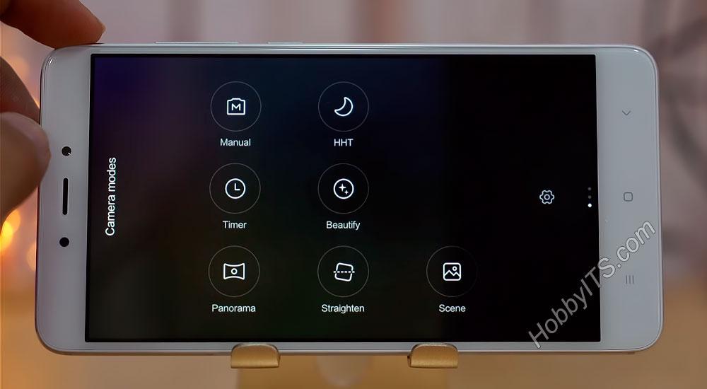 Интерфейс камеры смартфона Xiaomi Redmi Note 4