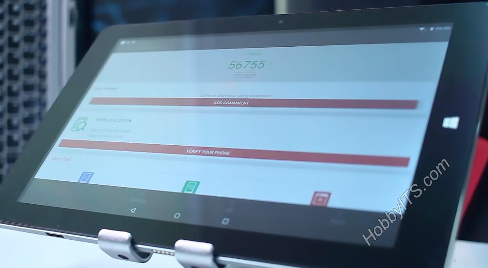 AnTuTu Benchmark тест на планшете CHUWI HiBook 2