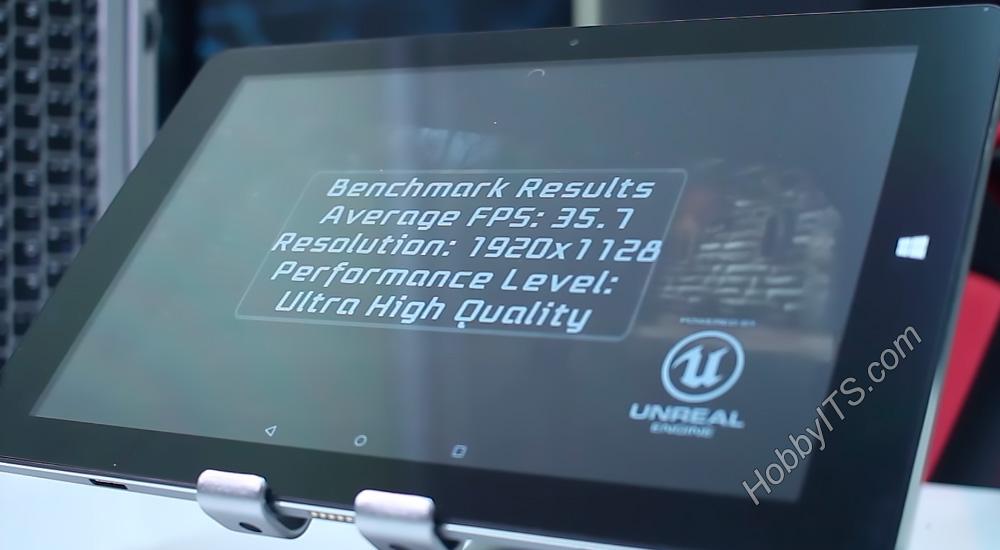 Epic Citadel тест на планшете CHUWI HiBook 2