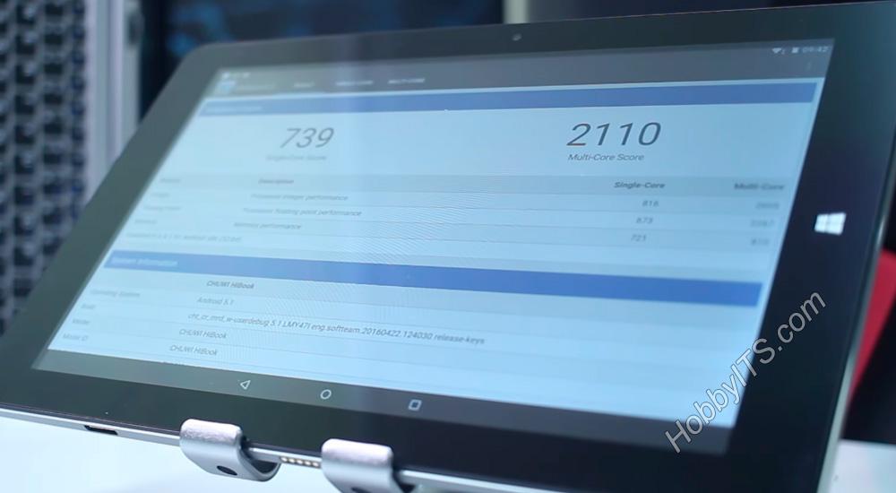 Geekbench 3 тест на на планшете CHUWI HiBook 2