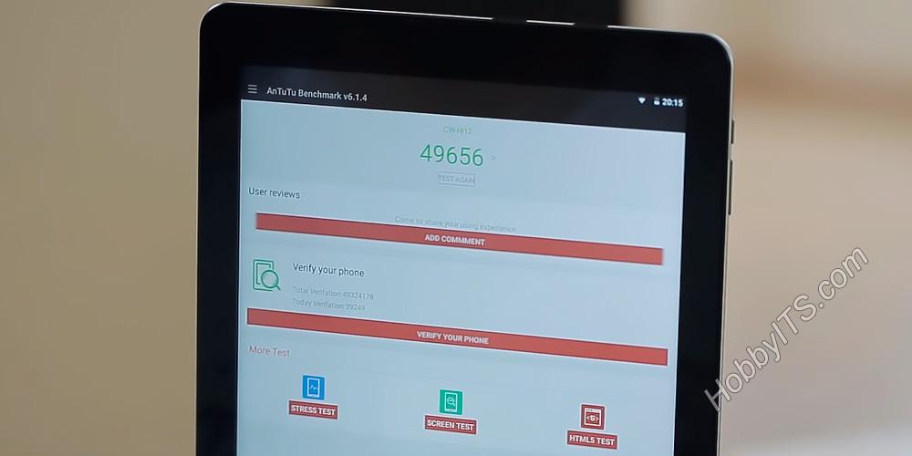 Тест AnTuTu Benchmark в планшете Chuwi Hi12