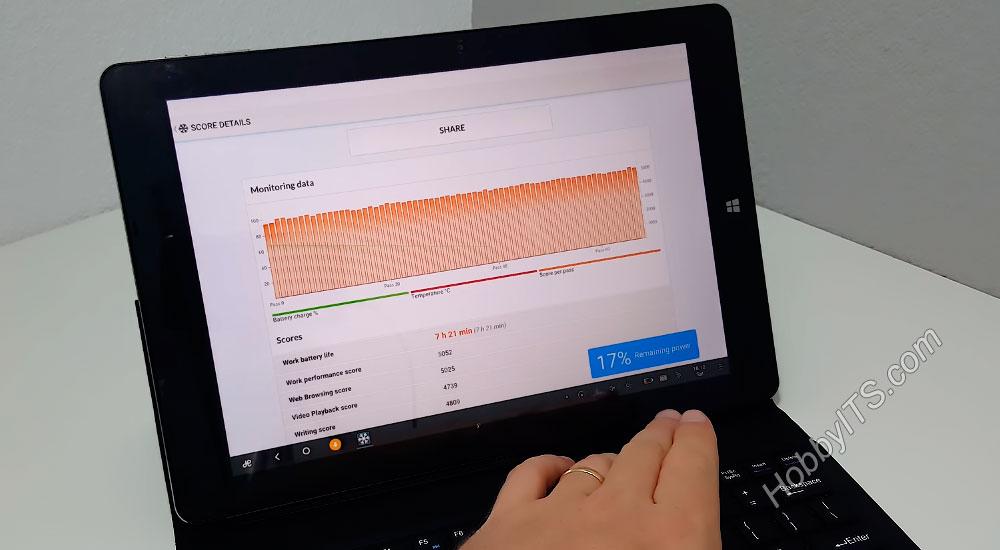 Мониторинг работы аккумулятора на планшете Chuwi Vi10 Plus