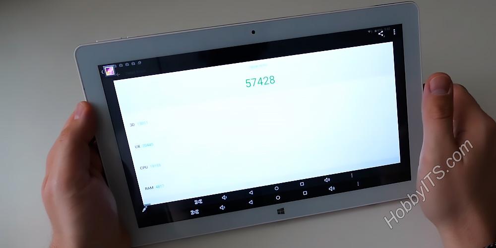 Тест планшета Teclast Tbook 16 Pro в AnTuTu Benchmark