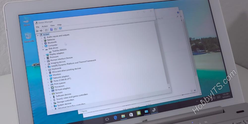 Диспетчер устройств в планшете Teclast Tbook 16 Pro