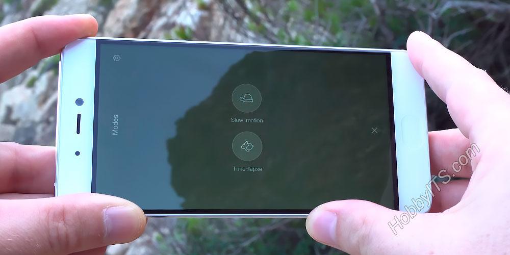 Замедление в режиме съемки видео на Xiaomi Mi5s