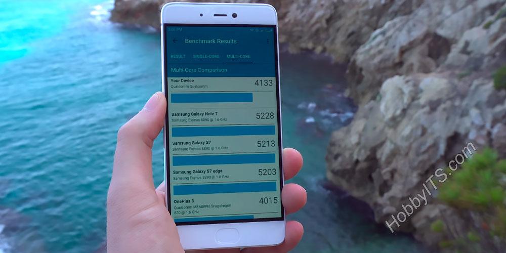 Место в GFXBench смартфона Xiaomi Mi5s