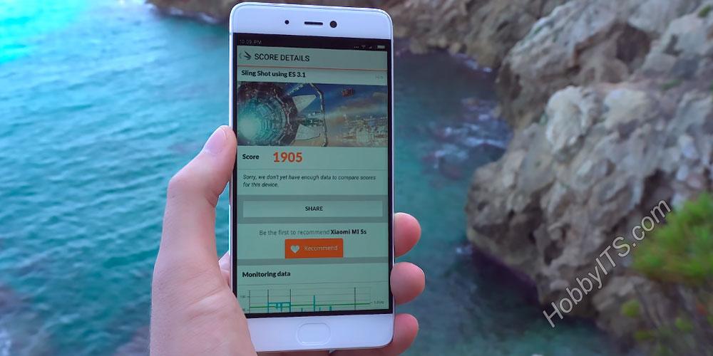Результат бенчмарка для смартфона Xiaomi Mi5s