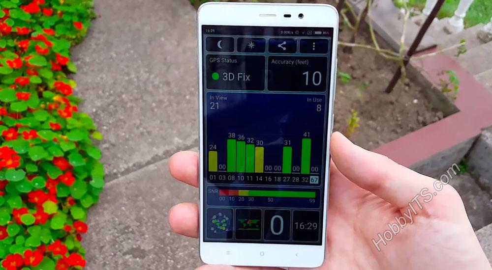 GPS Status (местоположение) на Xiaomi Redmi Note 3 Pro