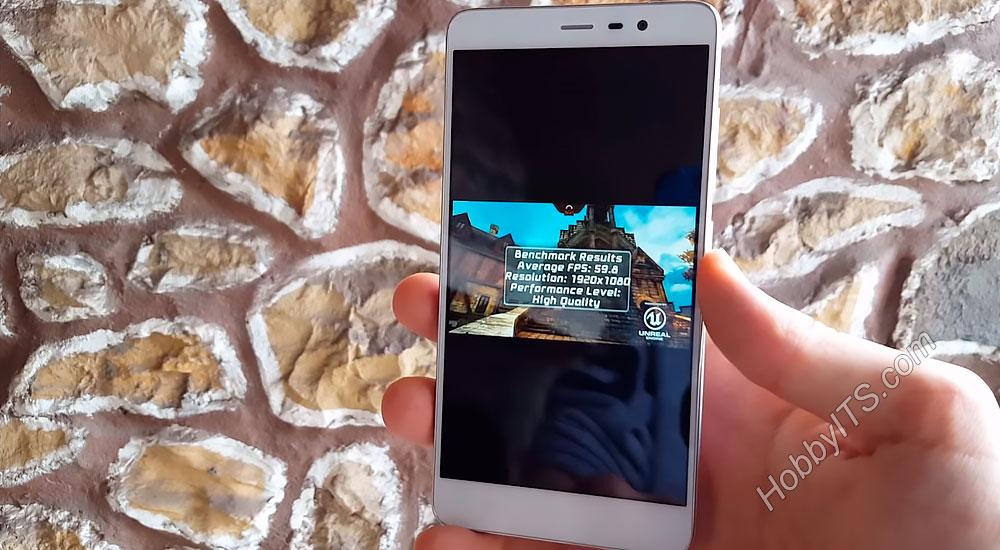 Результат теста Epic Citadel на Xiaomi Redmi Note 3 Pro
