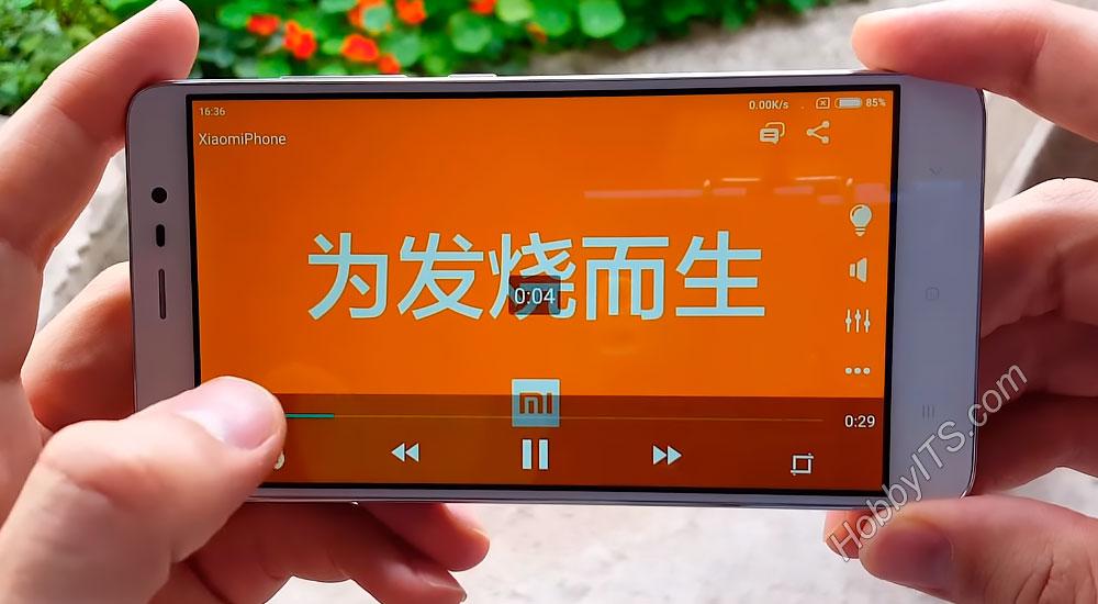 Демонстрация видеоплеера на смартфоне Xiaomi Redmi Note 3 Pro