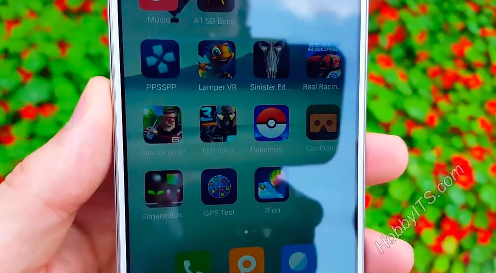 Под лучами солнца изображение остается читаемым Xiaomi Redmi Note 3 Pro