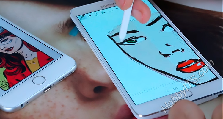 Быстрая зарисовка на смартфоне Note с помощью S Pen