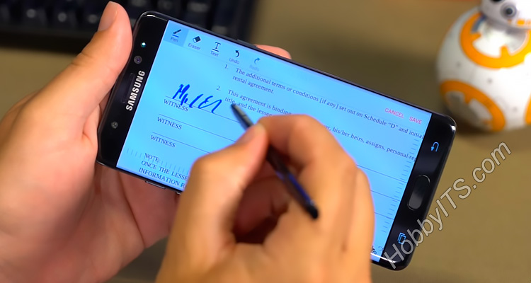 Подписывание контракта S Pen