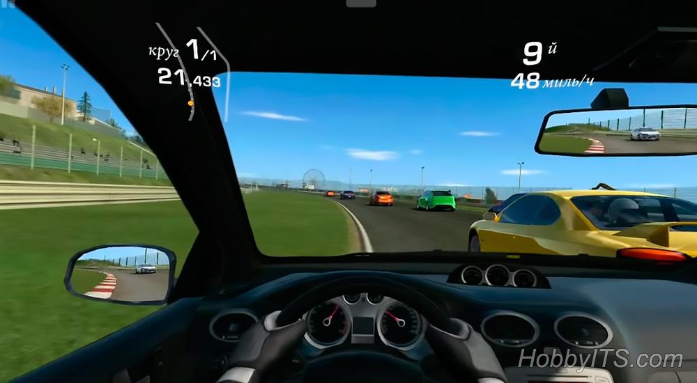 Игра Real Racing 3 на ТВ приставке идет без проблем