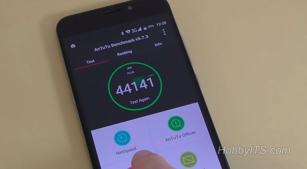 Результаты теста AnTuTu на смартфоне UMI Plus