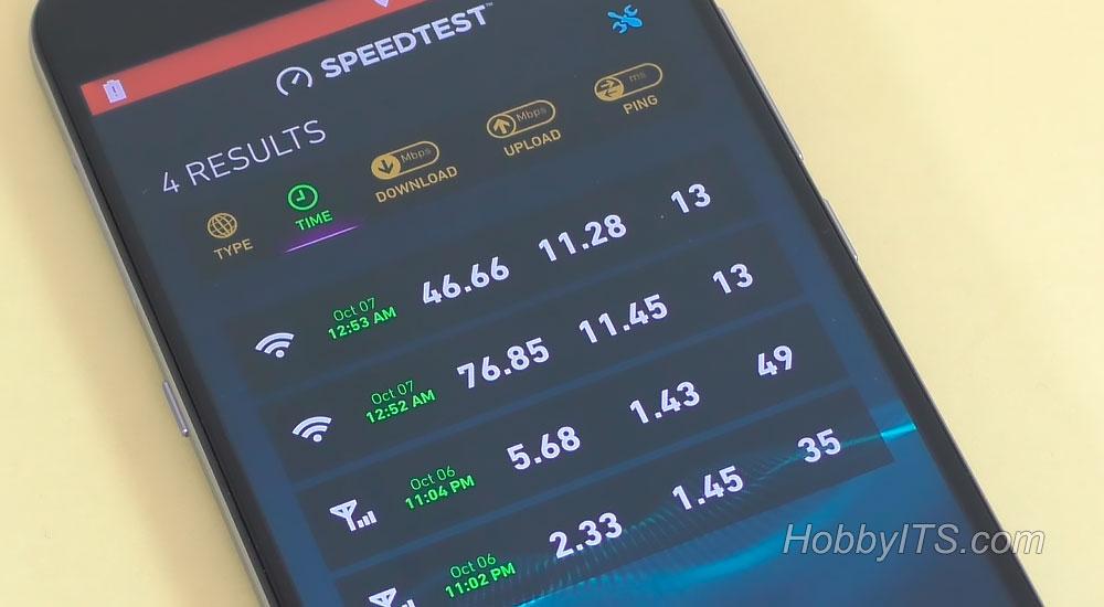 Speedtest на смартфоне UMI Plus