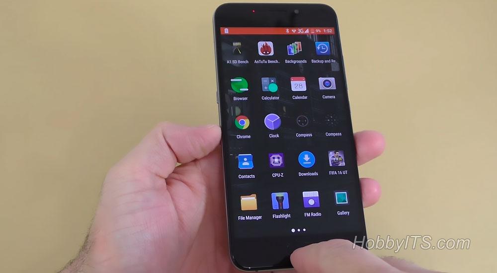 Интерфейс смартфона UMI Plus