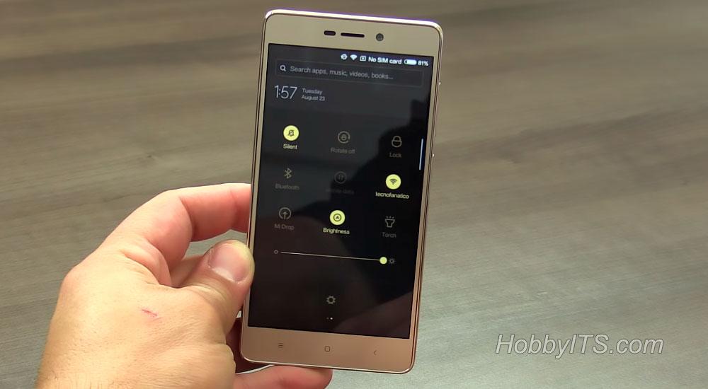 Интерфейс смартфона Redmi 3S