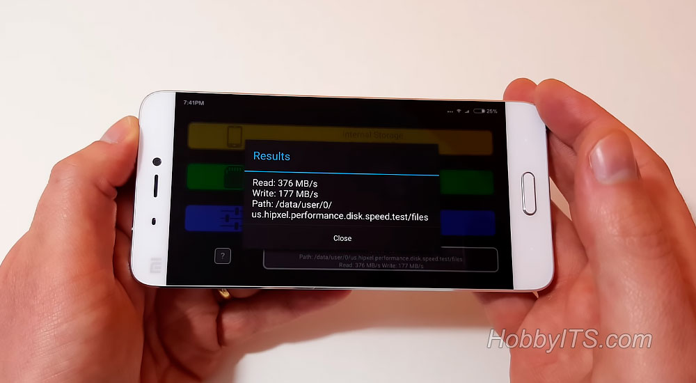 Скорость чтения и записи на XiaoMi Mi5
