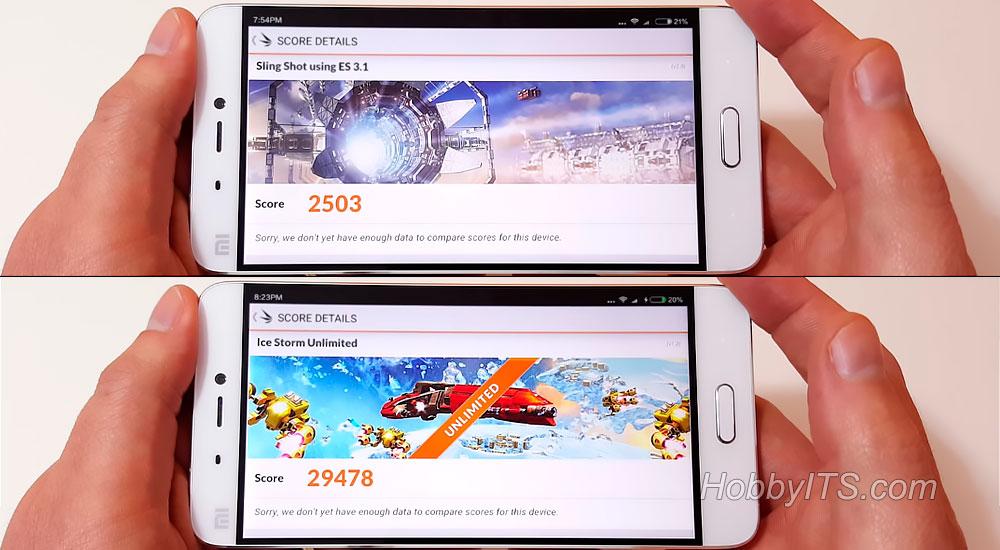 Результаты тестов 3D Mark на смартфоне XiaoMi Mi5