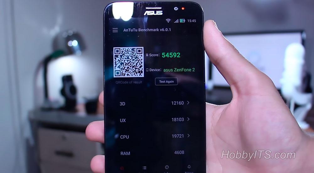 Результат теста AnTuTu Benchmark на телефоне Asus Zenfone 2 DELUXE